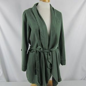 Sanctuary On The Go Olive Green Belted Jacket Med